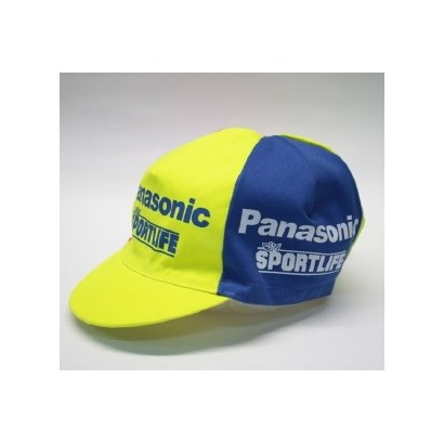 Gorra ciclista marca Panasonic