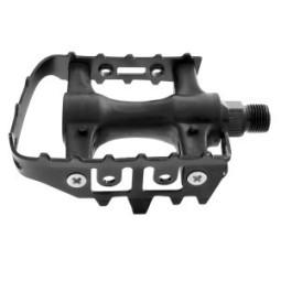Pedal bicicleta nylon acero negros mtb