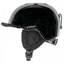 Casco ciclismo ventura negro