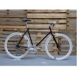 Bicicleta negra-blanca (2 frenos)