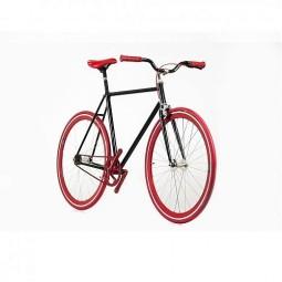 Bicicleta negra roja 13