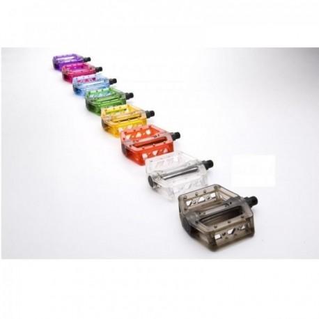 Pedales transparentes BMX colores
