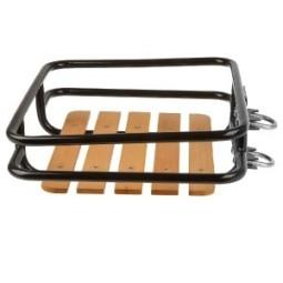 Portabultos bicicleta delantero con madera caja