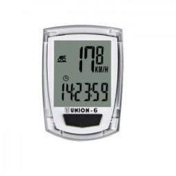 Cuentakilómetros bicicleta blanco 6 funciones
