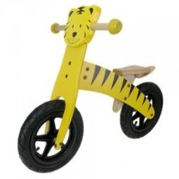 Bicicleta equilibrio niño madera forma tigre