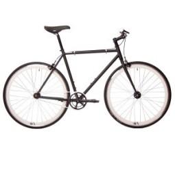 Bicicleta origin 8 fix8 negra - ruedas blancas
