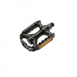 Pedal negro mtb reflectante