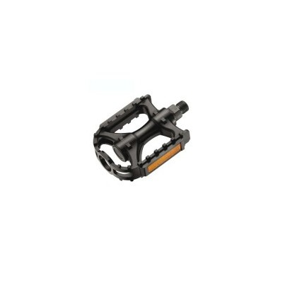 Pedal negro mtb reflectante