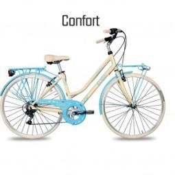 Bicicleta paseo color crema Cicli Elios Confort
