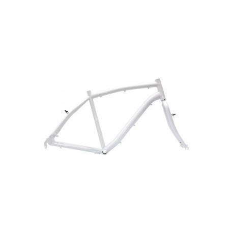 Cuadro bicicleta lady chico elegance blanco