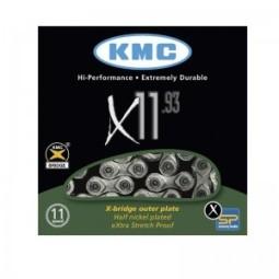 Cadena kmc x1193 plata negro