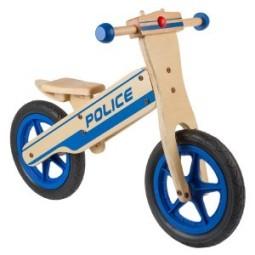 Bicicleta equilibrio niño policia