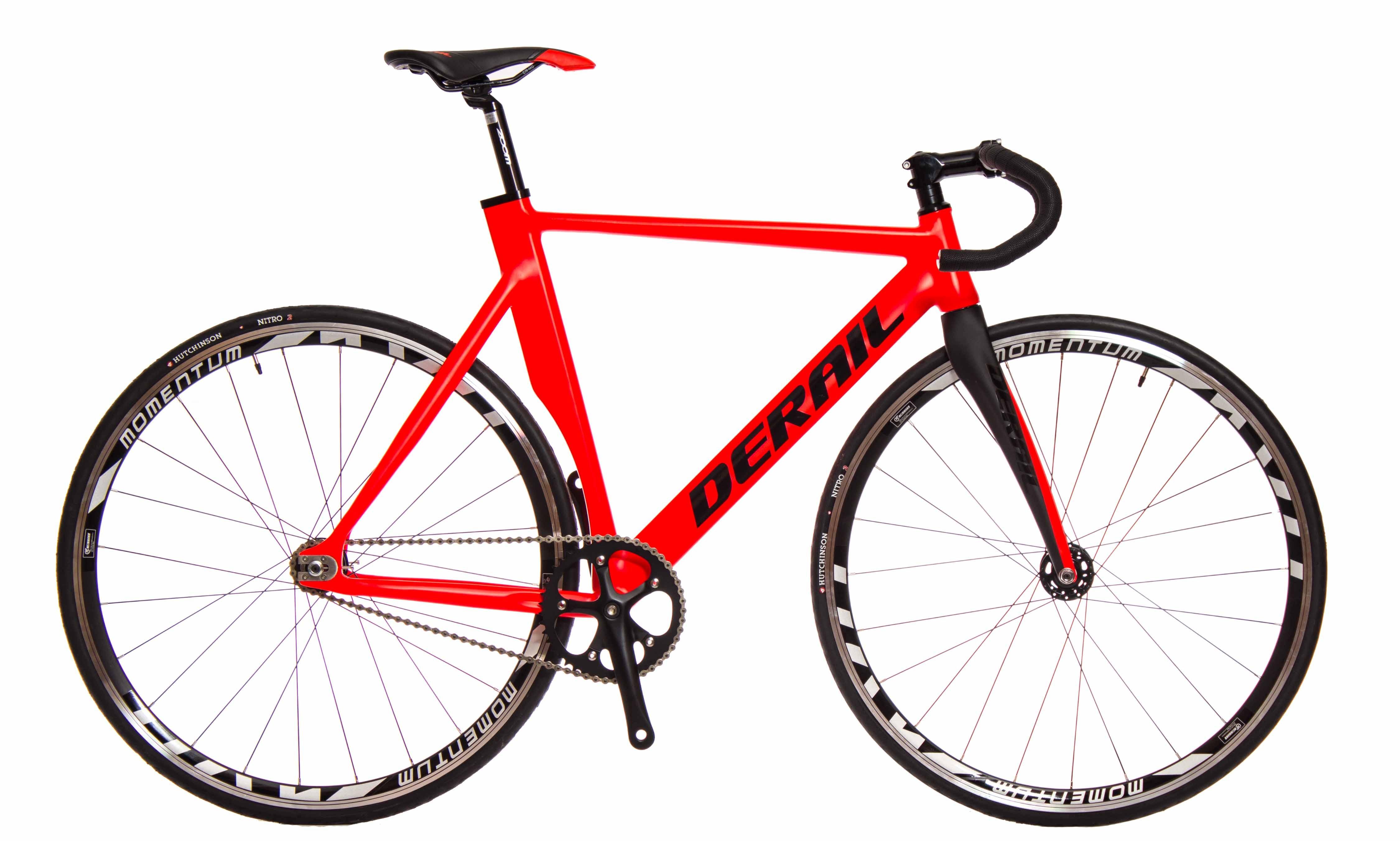Bicicleta pista fixie derail roja