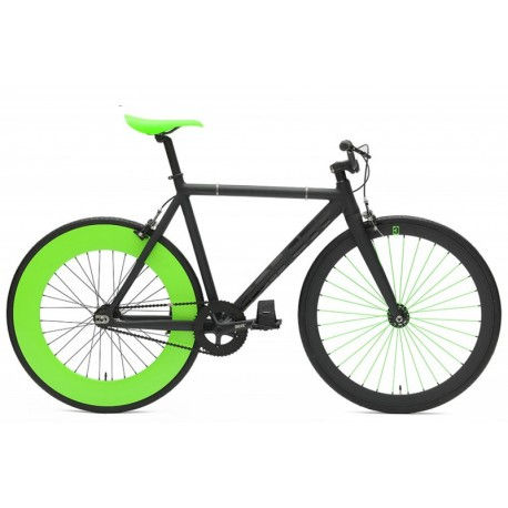 Bicicleta Fixie Create Negra Verde