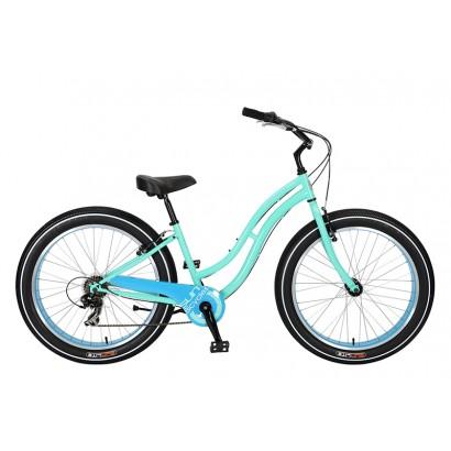 Bicicleta cruiser sun cruz azul 7vel