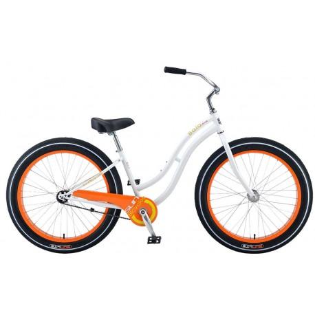Bicicleta cruiser - playera Sun cruz blanca