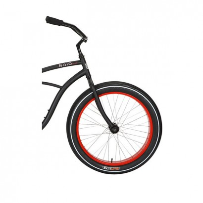Bicicleta cruiser - playera Sun cruz negra