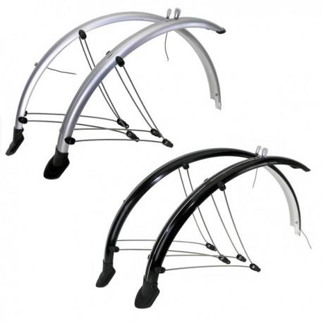 """Guardabarros bicicleta 28"""" inox plástico"""