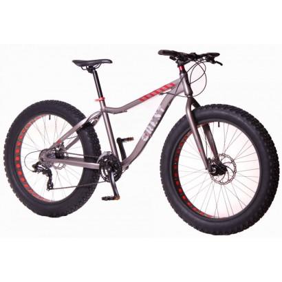 Bicicleta fat bike gris 24 velocidades