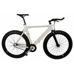 Bicicleta fixie Nologo blanca negra x type