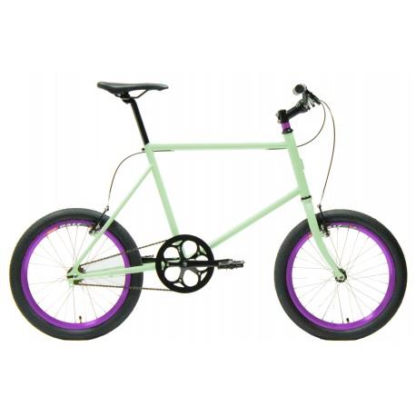 Bicicleta minivelo 1 velocidad 48 verde blanquecino