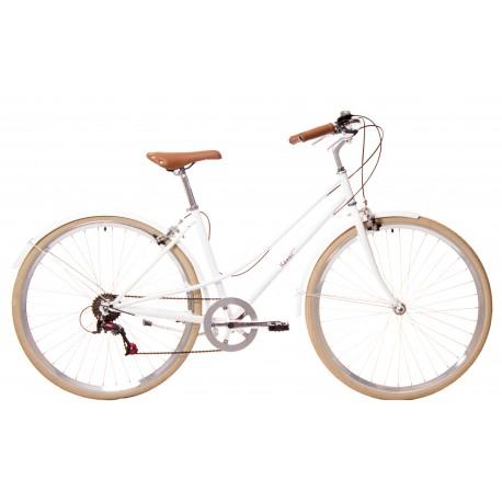 Bicicleta paseo 7vel kawaii blanca