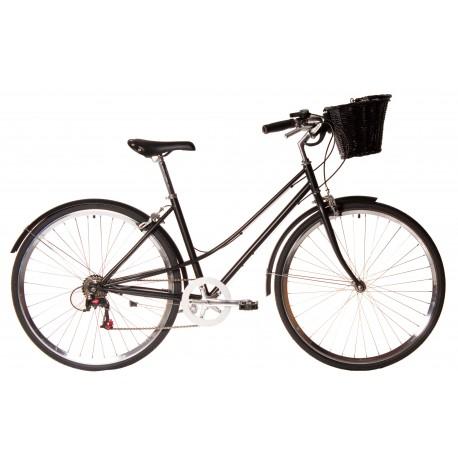 Bicicleta paseo 7vel kawaii negra