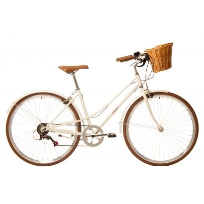 Bicicleta paseo 7vel kawaii crema