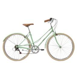 Bicicleta paseo 7vel kawaii verde blanquecino