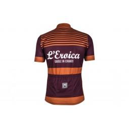 Maillot ciclismo Eroica burdeos naranja