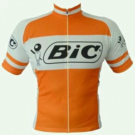 Maillot ciclismo bic naranja