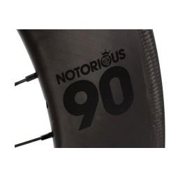 Rueda perfil 90mm notorius carbono