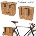Cesta mimbre colores lateral bicicleta