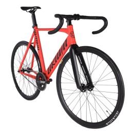 Bicicleta unknown singularity roja horquilla carbono