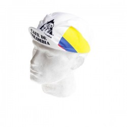 Gorra cafe Colombia ciclista
