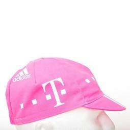 Gorra ciclista telecom rosa