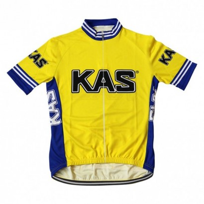 Maillot ciclista kas amarillo