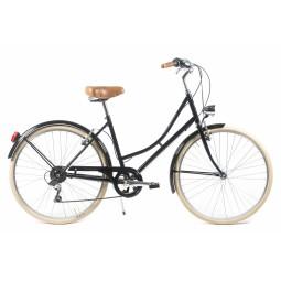 Bicicleta paseo capri barcelona negra crema