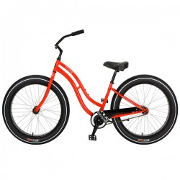 Bicicleta cruiser - playera Sun cruz roja