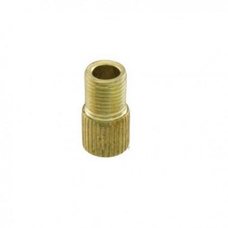 Adaptador válvula presta schrader dorado