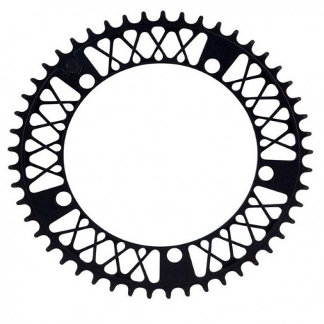 Plato bicicleta fk aluminio negro
