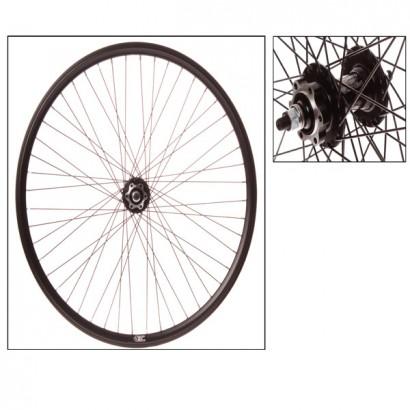 Ruedas bikepolo 48 negro mate