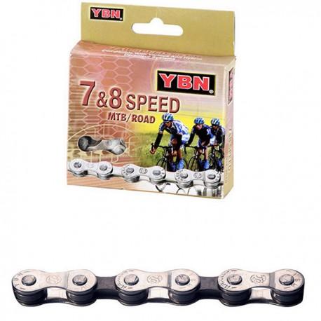 Cadena bicicleta YABAN S52 7-8 v