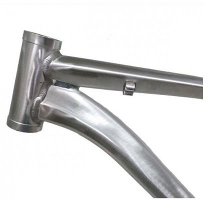 Cuadro 26 mtb aluminio hidroformado plata