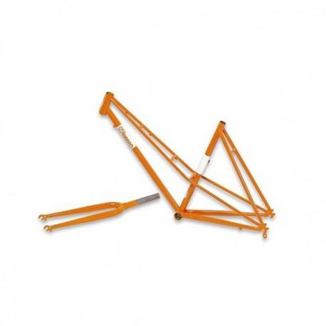 Cuadro Csepel lady Torpedo color naranja