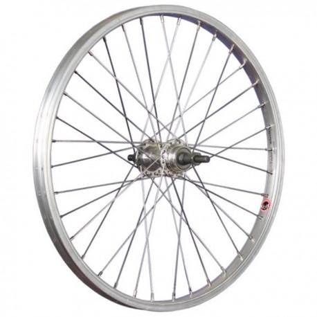24 pulgadas rueda trasera recuadro llanta de aluminio con 1g dimisión rbn-Plata