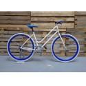 Bicicleta fixie blanca mujer