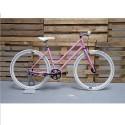 Bicicleta Fixie Chica Rosa