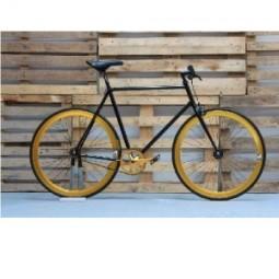 Bicicleta 8 negra-dorada